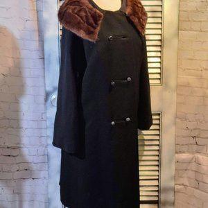 Vintage Forstman Fur Collar Winter Coat